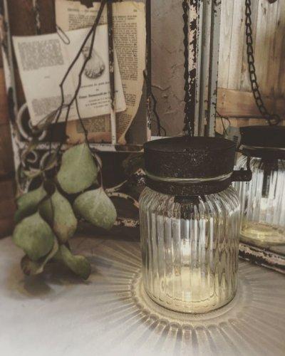 画像1: ジャム瓶のLEDランタン・レトロ