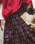画像2: MARCHE' DE SOEUR/赤チェックギャザースカート (2)