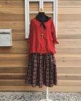 画像5: MARCHE' DE SOEUR/赤チェックギャザースカート