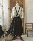 画像9: MARCHE' DE SOEUR/ブラックリネン吊りスカート