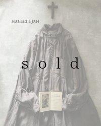 HALLELUJAH/1890's Bourgeron 1890年代 羊飼いシャツワンピース・Gray