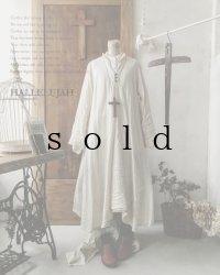 HALLELUJAH/Robe de fame de chambre 小間使いローブ・wool ivory