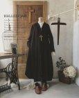 画像1: HALLELUJAH/Robe de fame de chambre 小間使いローブ・wool charcoal (1)