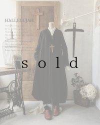 HALLELUJAH/Robe de fame de chambre 小間使いローブ・wool charcoal