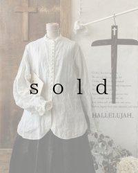 HALLELUJAH/Chemisier Victorien ヴィクトリア時代シャツ・off white