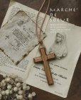 画像1: marchet/木の十字架ネックレス・ちいさめ (1)