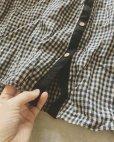 画像4: MARCHE' DE SOEUR/ちび襟パフ袖ブラウス・ネイビーギンガム