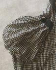 画像6: MARCHE' DE SOEUR/ちび襟パフ袖ブラウス・ネイビーギンガム