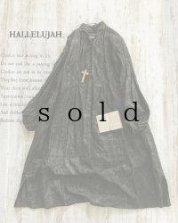 HALLELUJAH/1890's Bourgeron 1890年代 羊飼いシャツワンピース・墨染dark charcoal