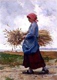 画像14: HALLELUJAH/1890's Bourgeron 1890年代 羊飼いシャツワンピース・flax