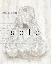 HALLELUJAH/Robe de Berger 羊飼いのローブ・off white stripe