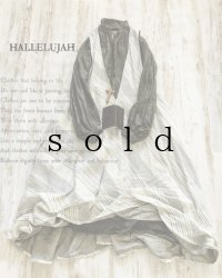 HALLELUJAH/Robe de femme de chambre no.4 小間使いローブ・off white stripe