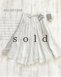 HALLELUJAH/Kilt Stripe キルトスカート・off white/flax