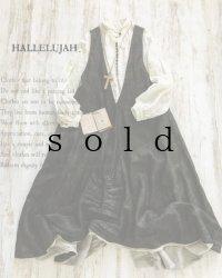 HALLELUJAH/Robe de femme de chambre no.4 小間使いローブ・墨染dark charcoal