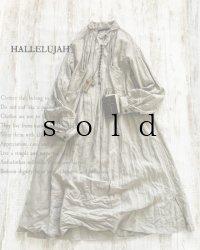 HALLELUJAH/1890's Bourgeron 1890年代 羊飼いシャツワンピース・flax