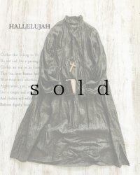 HALLELUJAH/1890's Bourgeron 1890年代 羊飼いシャツワンピース・墨染charcoal