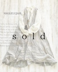 HALLELUJAH/Robe de femme de chambre no.4 小間使いローブ・grey stripe