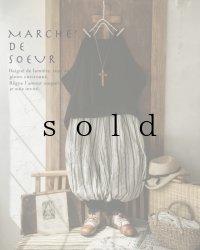 MARCHE' DE SOEUR/ピエロパンツ・ストライプ×ブラック