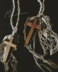 画像1: pollenbienco/アンティークレースの特大十字架ネックレス (1)