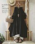 画像6: MARCHE' DE SOEUR/シャーリングパフ袖の教会ワンピース・ブラック