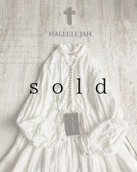 HALLELUJAH/1890's Bourgeron 1890年代 羊飼いシャツワンピース・off white