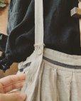 画像3: 再入荷MARCHE' DE SOEUR/吊りスカート・生成り×黒ライン