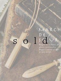marchet/木の十字架ネックレス・ちいさめ