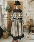 画像1: MARCHE' DE SOEUR/バイカラースカート・裾に小花 (1)