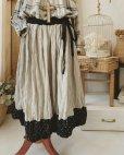 画像2: MARCHE' DE SOEUR/バイカラースカート・裾に小花 (2)