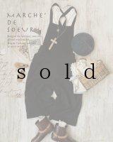 MARCHE' DE SOEUR/サロペットパンツ・黒