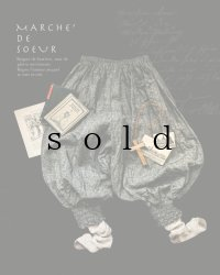 MARCHE' DE SOEUR/ピエロパンツ・シャンブレーリネン杢ブラック