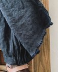 画像3: MARCHE' DE SOEUR/ウールヘリンボンリネンのタブリエパンツ・濃紺(75cm丈と85cm丈)
