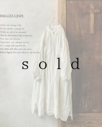 HALLELUJAH/1890's Bourgeron 1890年代 羊飼いシャツワンピース・off-white