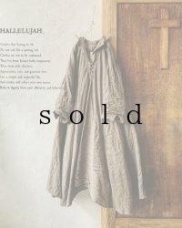 HALLELUJAH/Robe de femme de chambre 小間使いローブ衿付・[新色]brown