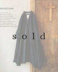 HALLELUJAH/Robe de femme de chambre 小間使いローブ衿付・black