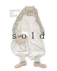 MARCHE' DE SOEUR/ピエロサロペット・生成り