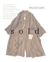 HALLELUJAH/Manteau1910[1910年代コート]・柿渋染めlight brown