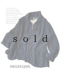 HALLELUJAH/Vaste de Berger 1890[1890年代 羊飼いのジャケット]・indigo gauze