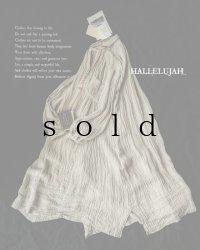HALLELUJAH/【限定販売】1890's Bourgeron 1890年代羊飼いシャツワンピース・gauze flax