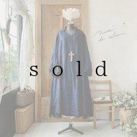 【当店限定カラー】HALLELUJAH/Nomad Dress ノマドドレス・indigo×black