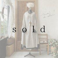 【当店限定カラー】HALLELUJAH/Nomad Dress ノマドドレス・flax×black