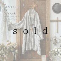 MARCHE' DE SOEUR/リトアニアリネン・革タグのジャケット【ガーゼジャガード】