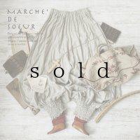 MARCHE' DE SOEUR/ワッシャーリネンピエロパンツ・生成り