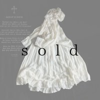 HALLELUJAH/Robe Medievale a Capuche 中世のフードローブ・off-white