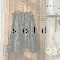 MARCHE' DE SOEUR/スクエアサルエルパンツ・黒