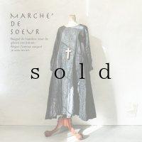 MARCHE' DE SOEUR/サイドタックワンピース・杢ブラック