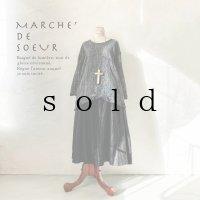 MARCHE' DE SOEUR/サイドピックプルオーバー・杢ブラック