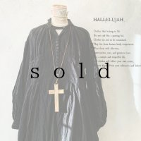 HALLELUJAH/1890's Bourgeron 羊飼いシャツワンピース・Black