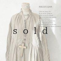 HALLELUJAH/1890's Bourgeron 羊飼いシャツワンピース・Sand Baige