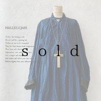 当店限定 HALLELUJAH/羊飼いのノマドドレス・Indigo×Black